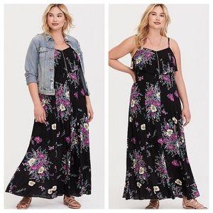 NEW Torrid Floral Maxi Dress 1X